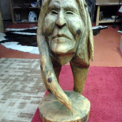 redhawk ranch wood statue